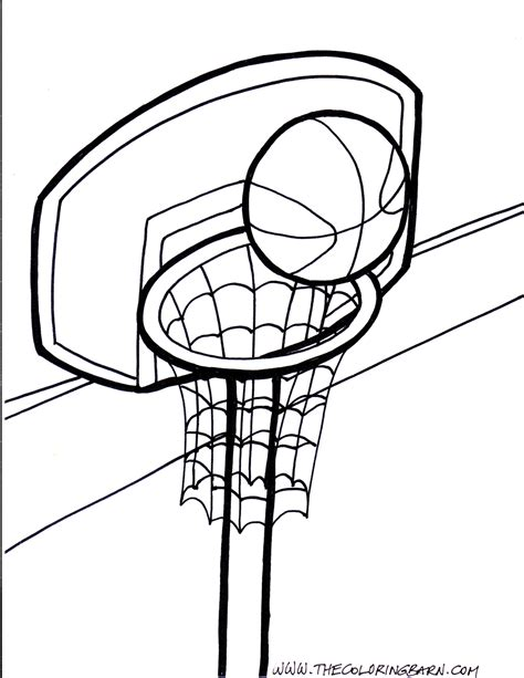 basketball net coloring pages printable basketball pictures cliparts co