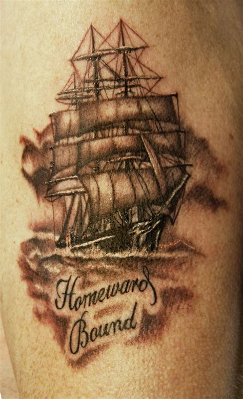 sailing ship tattoo ship murphy the armoured scorpion