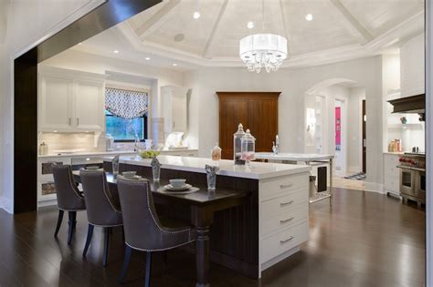 kitchen with round vaulted ceiling transitional kitchen island built in tables images concept pleasant