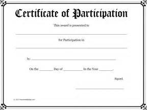 best photos of participation certificate templates for
