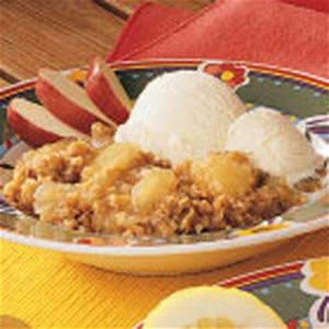 pear apple crisp recipe taste of home