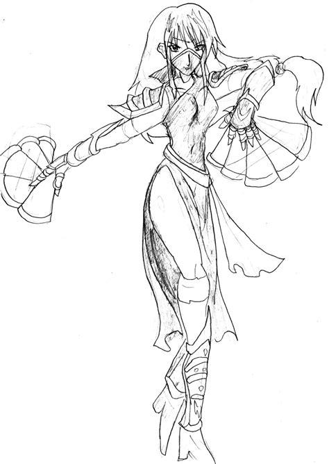 Mortal Kombat Manga Sketch Kitana No Ojo By