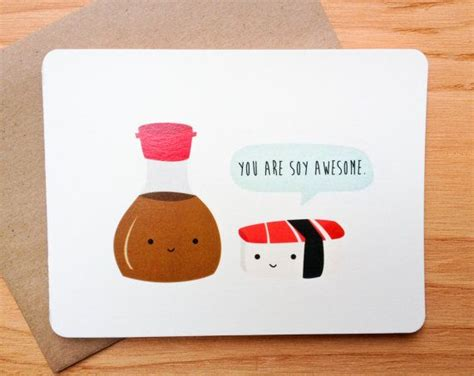Sushi Gift Card - sushi valentine pun funny card on etsy 4 00 holiday food gifts craft