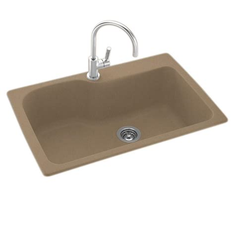 Mount Kitchen Sink by Swan Dual Mount Composite 33 In 1 Single Bowl