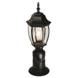 Outdoor Kitchen Contractor - heath zenith hz 4392 bk 360 degree motion sensor post lantern lowe s canada