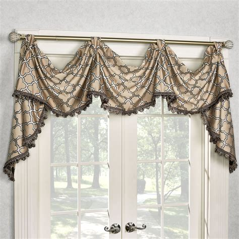 victory valance curtains fandangle quatrefoil tab top victory valance