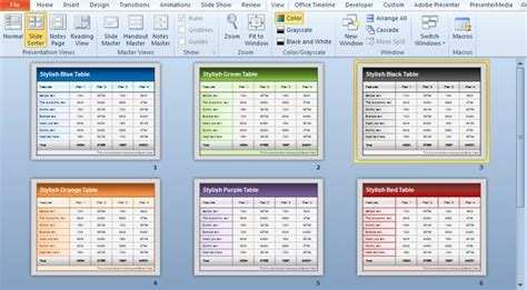 table layout and presentation in html free table templates for powerpoint