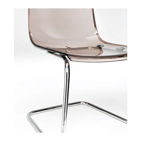 Tobias Chair by Tobias Chair Brown Chrome Plated