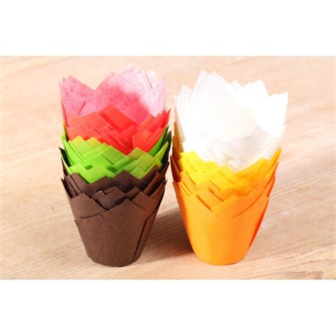 Muffin Cup tulip muffin cups multi color set weekend bakery