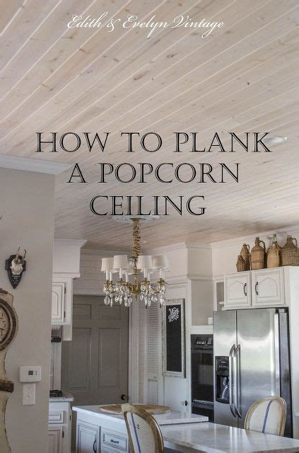 How To Redo Popcorn Ceilings how to plank a popcorn ceiling home remodeling plank