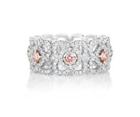 De Beers Enchanted Lotus Band Enchanted Lotus Band With Fancy Pink Centre Diamonds