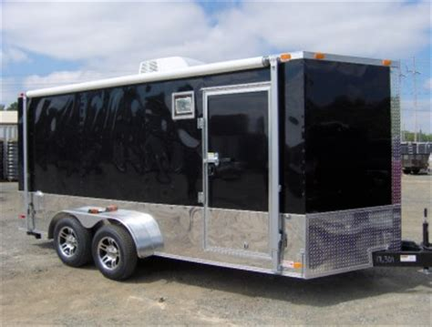 c trailer awnings 7x16 enclosed motorcycle cargo trailer a c unit w awning