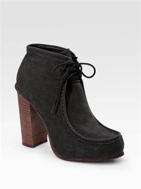 dolce vita lace up leather ankle boots in black lyst