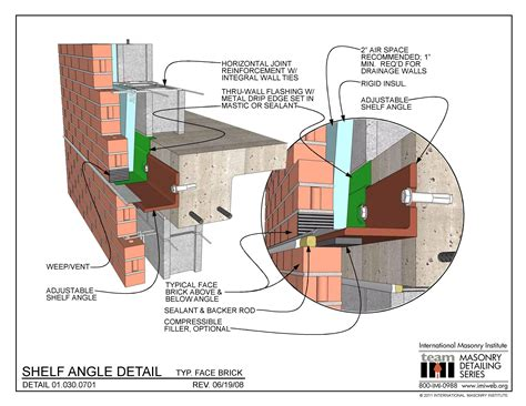 Distance From Floor Vent To Outter Wall Code - 01 030 0701 shelf angle typ brick international