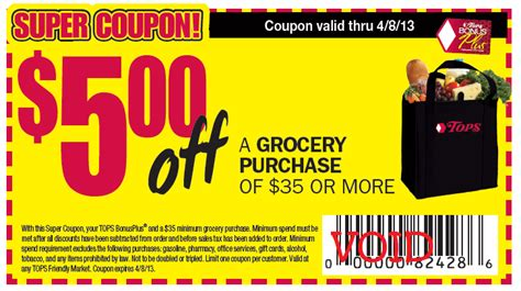 tops grocery coupons printable wny deals and to dos tops markets printable store