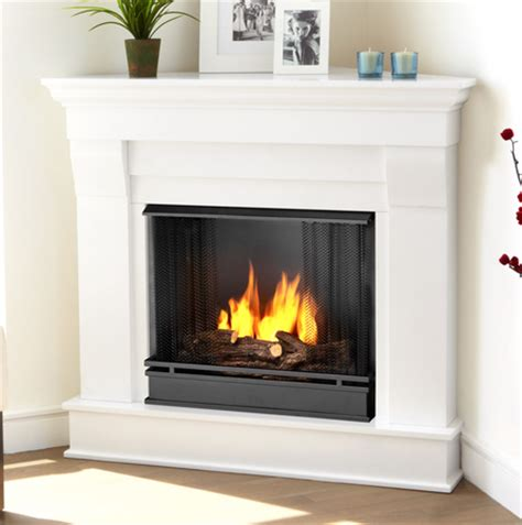 Corner Fireplace White by 40 94 Quot Chateau White Corner Gel Fireplace