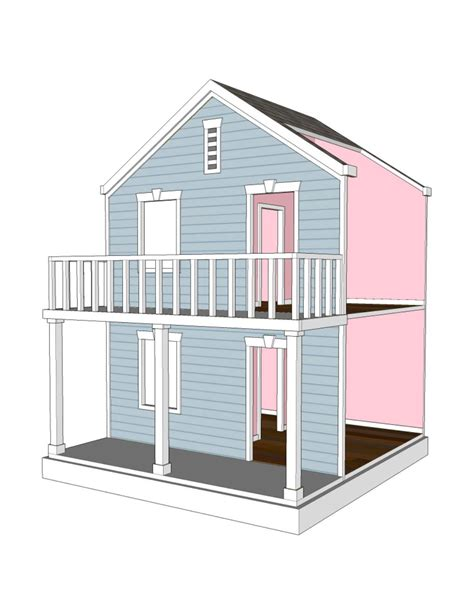 dollhouse for 4 inch dolls doll house plans for american or 18 inch dolls 4 room