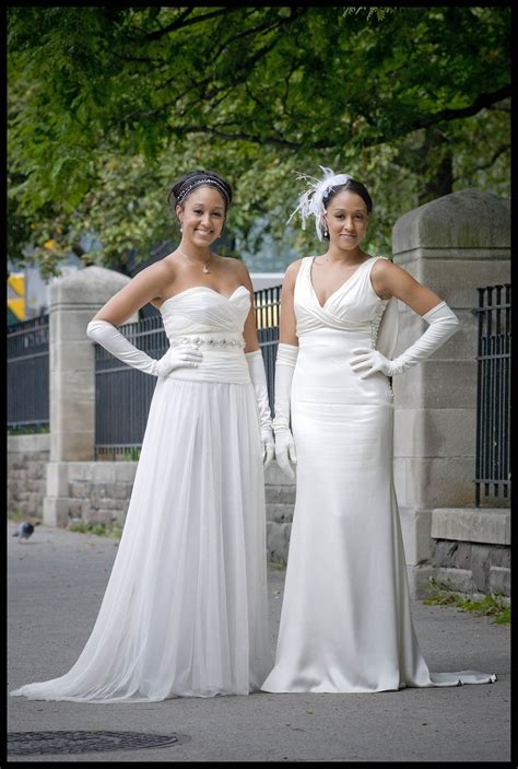 "Dressed Tamara Mowry in ""Double Wedding""   Kevan Hall White Label   b"