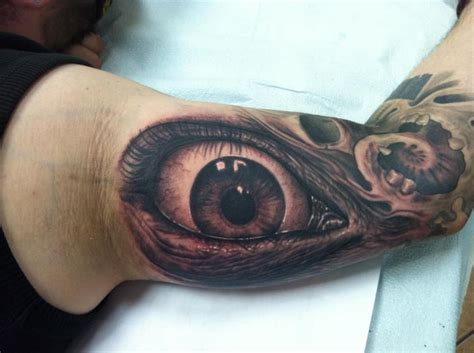eyeball armpit tattoo arm realistic eye tattoo by josh duffy tattoo