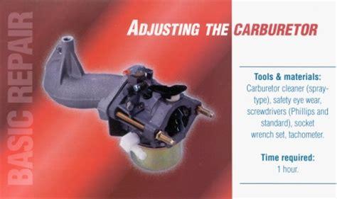 how do you adjust the carburetor on a weed eater adjusting the carburetor vanguard engines