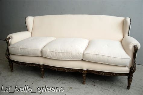 Sophisticated Chic French Lxvi Sofa Original Patina For