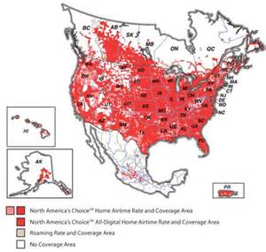 sprint coverage map canada alltel america s largest network