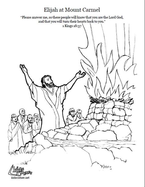 free bible coloring pages elijah elijah on mount coloring page script and bible