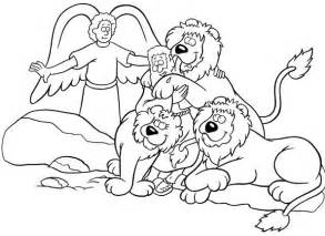 Daniel And The Lions Den Bible Coloring Pages sketch template