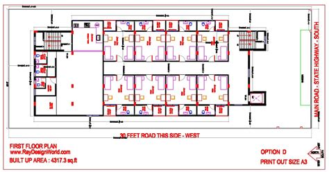 commercial complex floor plan best commercial complex design in 7645 square feet 03