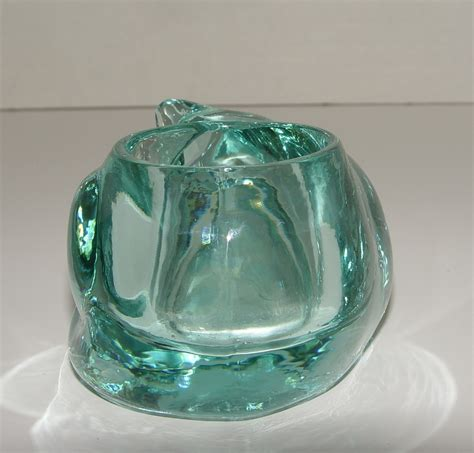 Teal Votive Candle Holders Indiana Glass Teal Light Blue Sleeping Cat Votive