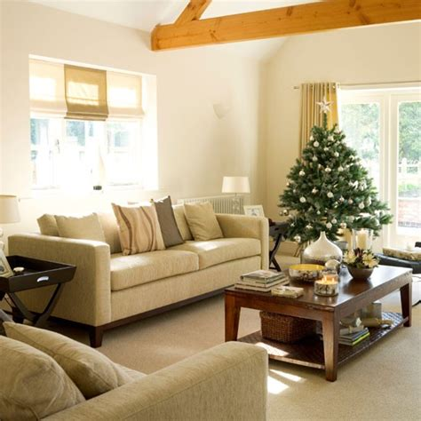 christmas living room step inside a new build home