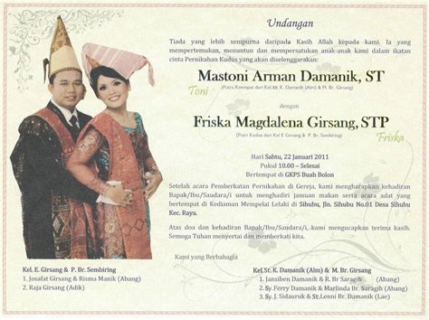 supplier kartu undangan contoh isi undangan pernikahan kristen