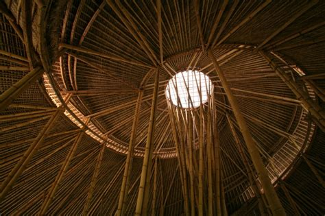 Bamboo Ceiling Design by Bamboo Architecture Green School Bali Archian Designs