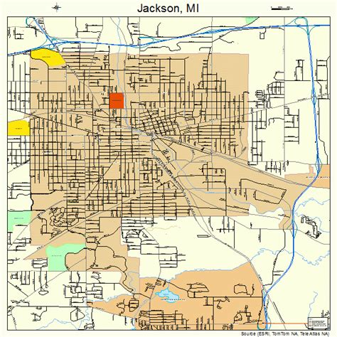 jackson map jackson michigan map 2641420