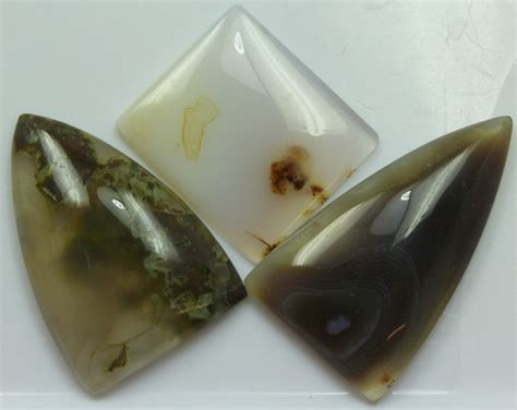 Agate 36 70 Cts 75 70 cts 3 pcs agate polished parcel