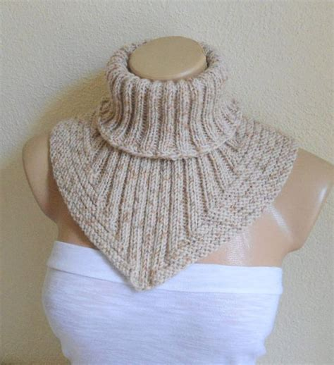 how to knit collar scarf cowl neck warmer knit collar soft by