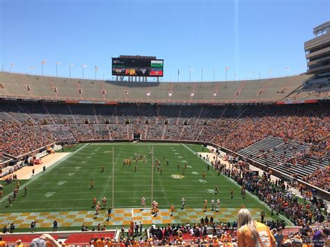 neyland stadium visitors section neyland stadium section y8 rateyourseats com