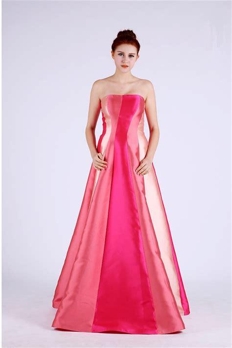 multi color prom dress a line strapless multi color taffeta occasion