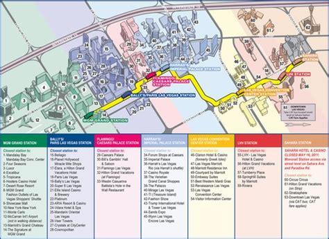 las vegas tram map las vegas monorail maplets
