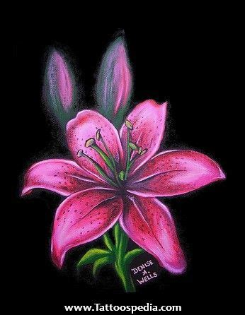 pink lily tattoo designs 17 best ideas about design on