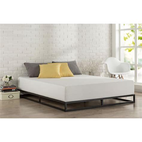 queen size    profile metal platform bed frame