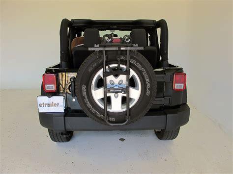 jeep yj hollywood racks sr  bike carrier spare tire mount