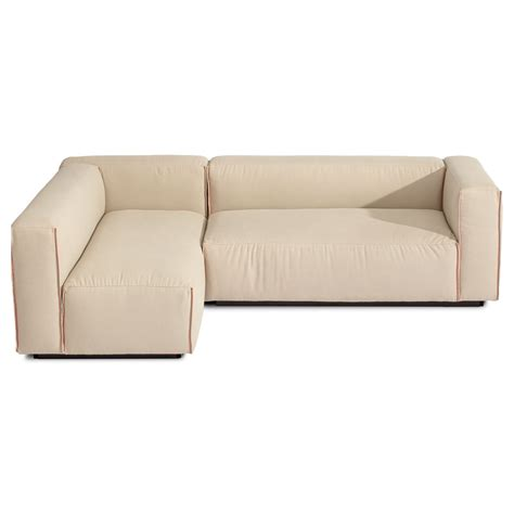 modern small space sectional sofa in beige decofurnish