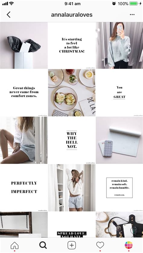 9 Types Of Instagram Grid Layouts Planner Tips Instagram Post Planner Template