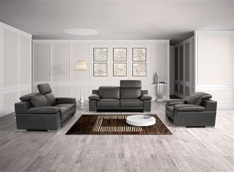 a39 living room set full leather black by esf furniture made in italy full leather panther black sofa set san