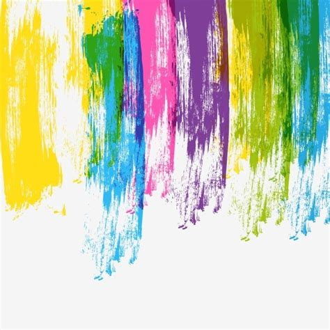 colorful brush stroke strips stain brush stroke paint