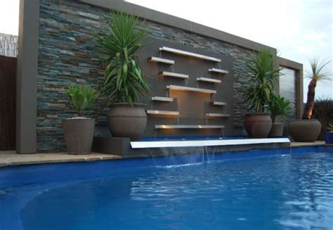 contemporary pools cascata para piscina ideias e de 50 modelos lindos
