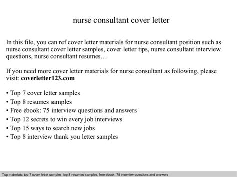 Rn Consultant Cover Letter by Consultant Cover Letter