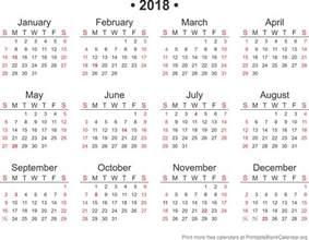 Calendario 2018 Printable 2018 Free Annual Calendar Template Printable Blank