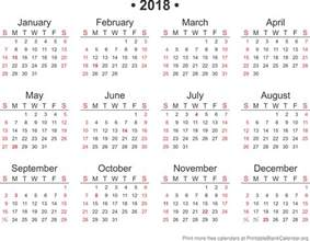 Calendar 2018 Hd 2018 Free Annual Calendar Template Printable Blank